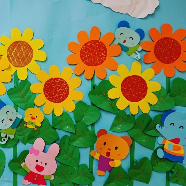 【アプリ投稿】夏の壁面飾り