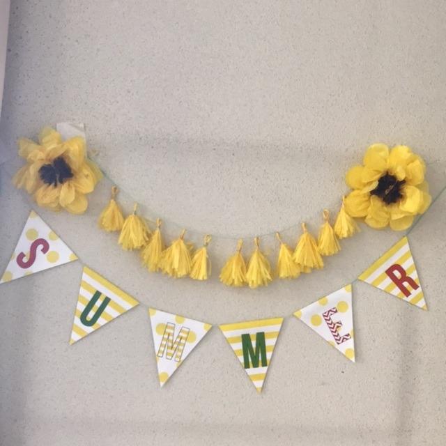 【アプリ投稿】お花紙でタッセルとひまわりを作りました