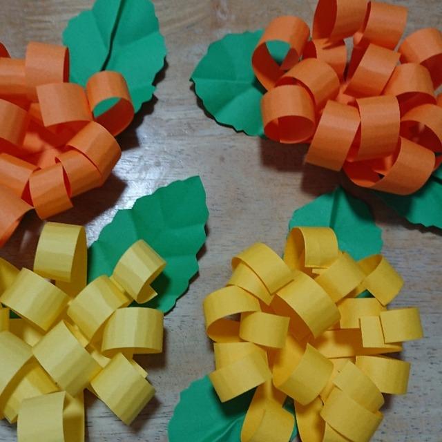 【アプリ投稿】秋の製作、菊の花