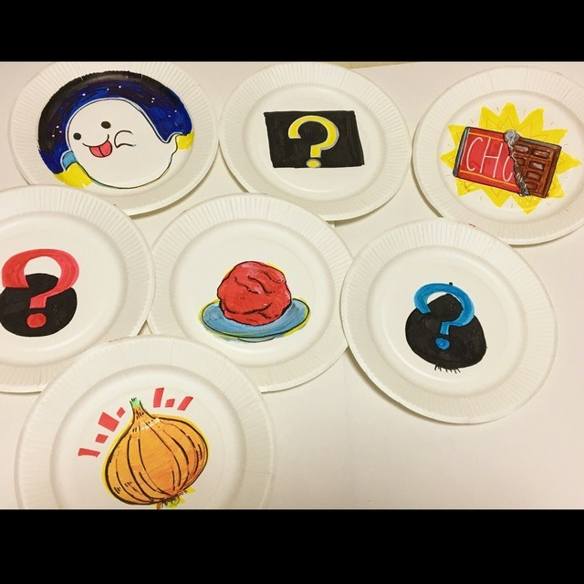 【アプリ投稿】くいしんぼうおばけの紙皿シアター🍽👻