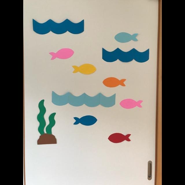 【アプリ投稿】病児保育室  夏の壁面