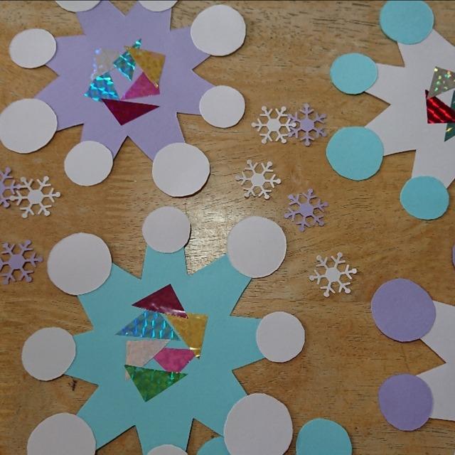 【アプリ投稿】冬の製作です❗雪の結晶❄️