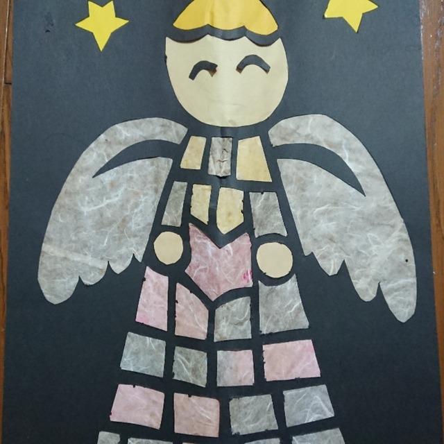 【アプリ投稿】天使、ステンドグラス風