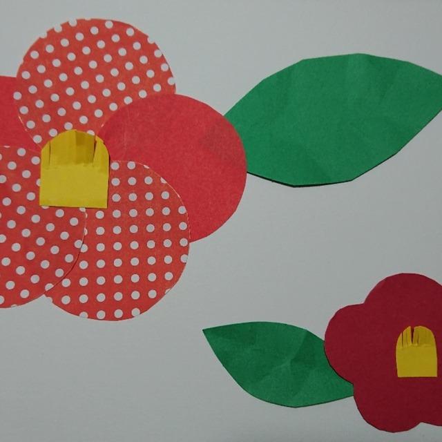 【アプリ投稿】冬の製作、ツバキの花