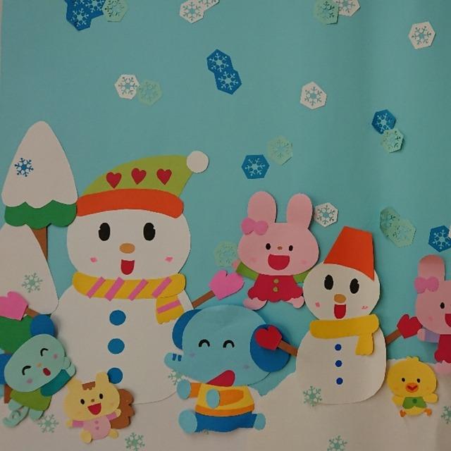 【アプリ投稿】冬の壁面飾り