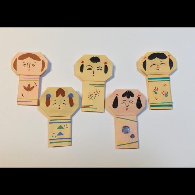【アプリ投稿】折り紙でこけし!