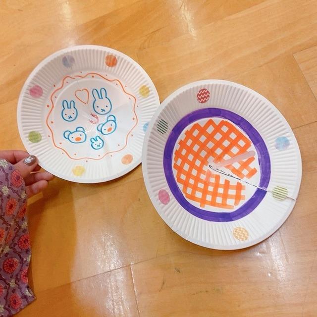 【アプリ投稿】紙皿でコマ!