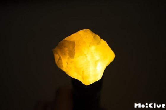 【実験遊び】鉱石をライトで照らしてみよう〜素材/鉱石〜
