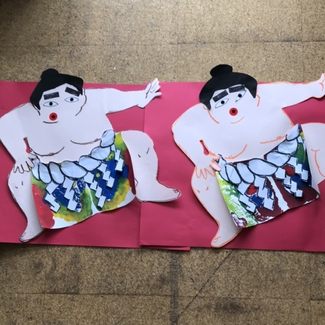 【アプリ投稿】2歳児クラス・一月製作「横綱」