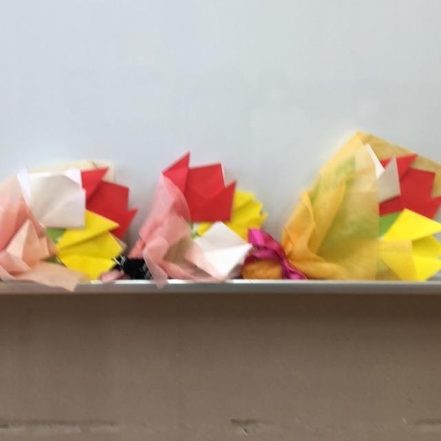 【アプリ投稿】折り紙で花束