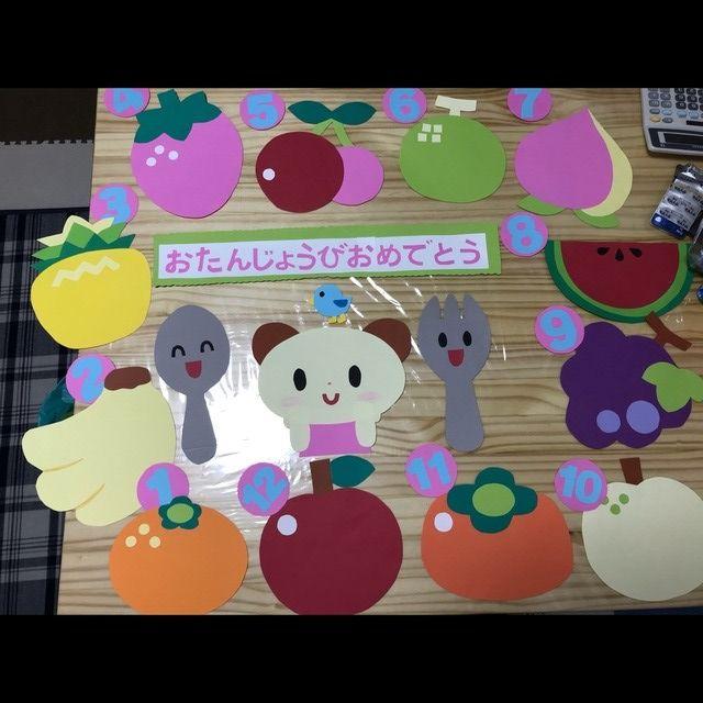 【アプリ投稿】誕生日壁面果物