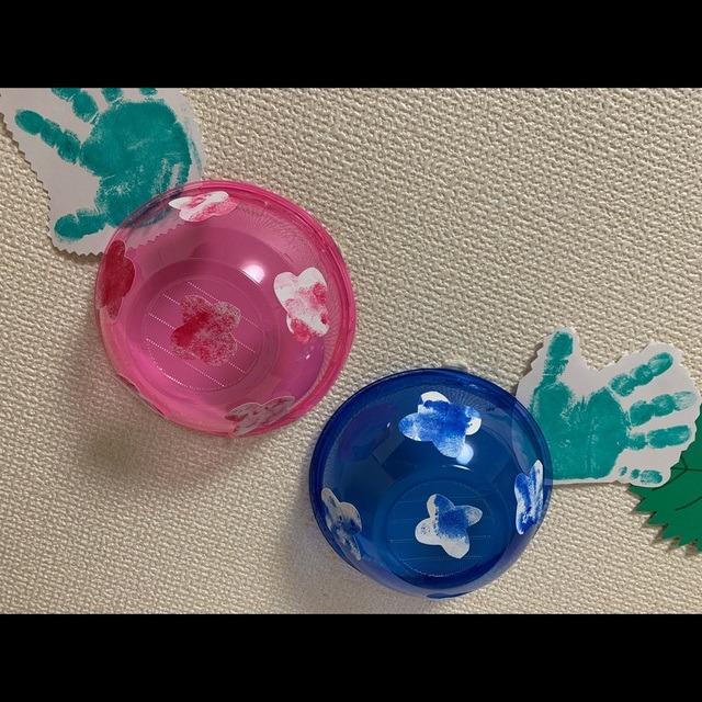 【アプリ投稿】紫陽花を作ったよ!0.1歳児