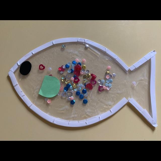 【アプリ投稿】2歳児。夏の製作。魚。