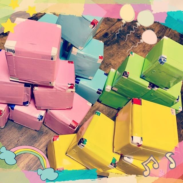 【アプリ投稿】☆牛乳パックの積み木☆