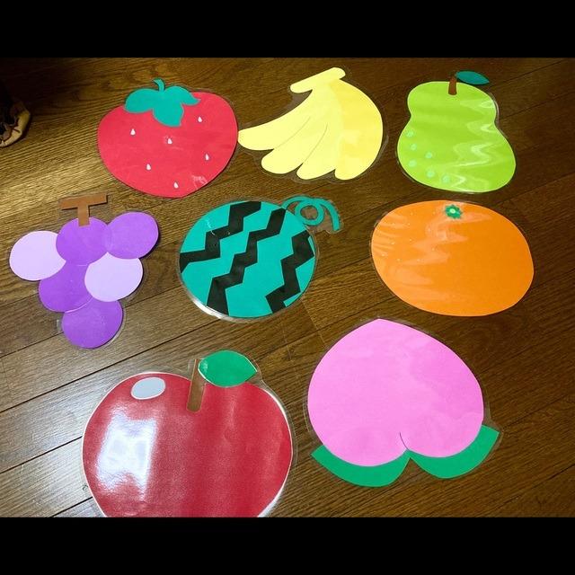 【アプリ投稿】フルーツのランチョンマット兼壁面飾り