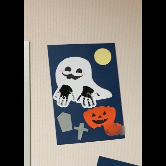 【アプリ投稿】0歳児 手形 ハロウィン制作