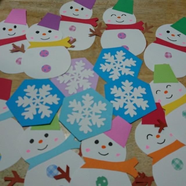 【アプリ投稿】雪だるま⛄と雪の結晶❄️