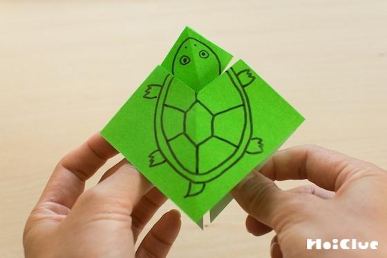 【工作コラム】頭がひょっこり!不思議なカメさん〜素材/折り紙〜