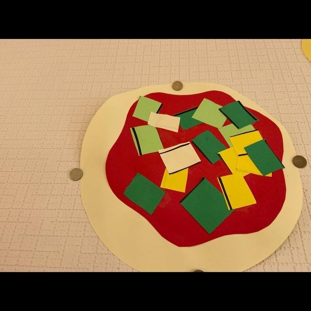 【アプリ投稿】[初めてのハサミ製作 ピザ]