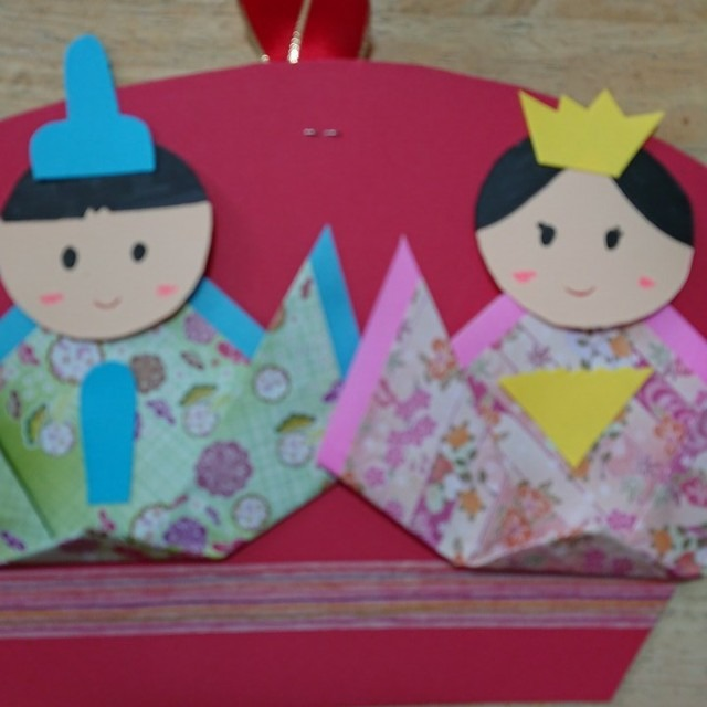 【アプリ投稿】折り紙で作ったお雛様🎎です‼️