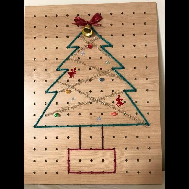 【アプリ投稿】ひも通しでクリスマスツリー