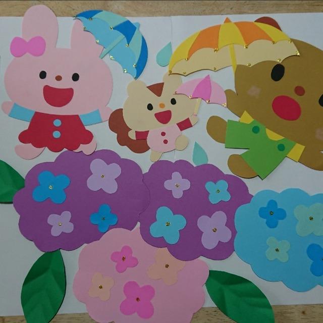 【アプリ投稿】梅雨☔の季節の壁面飾り