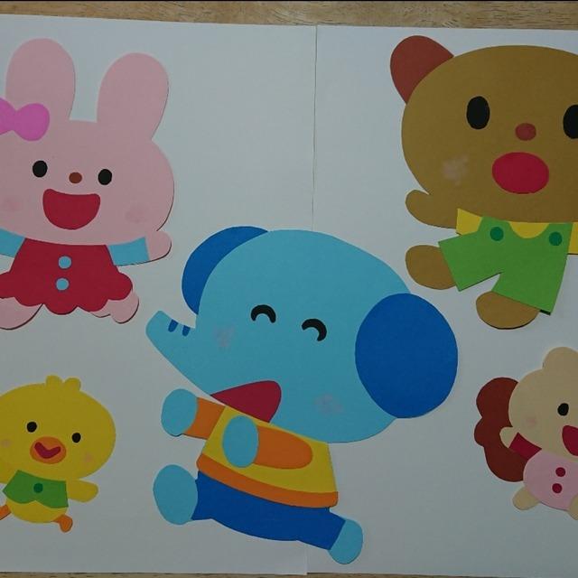 【アプリ投稿】動物たちの壁面飾り