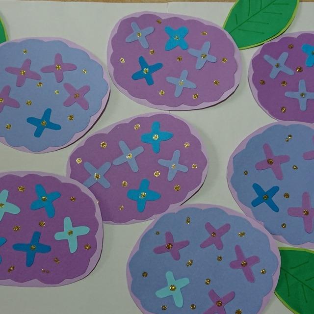 【アプリ投稿】紫陽花の壁面飾り