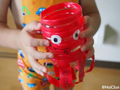 たこさんジョーロ~ペットボトルで簡単手作りおもちゃ〜