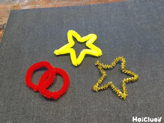 別のモールで星を作った写真