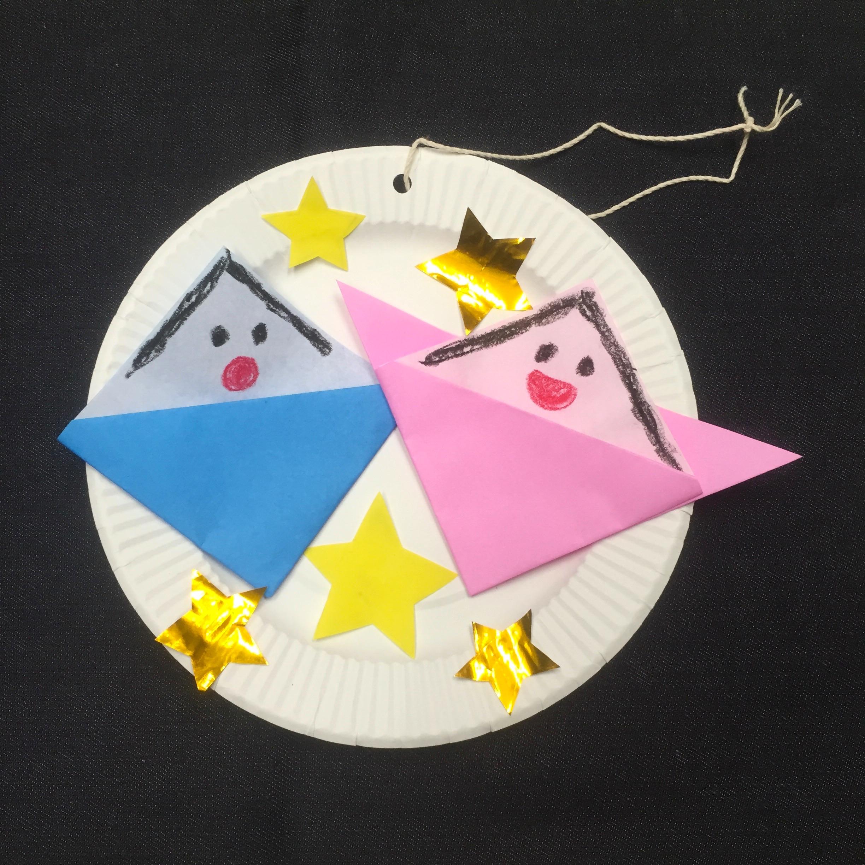 織姫と彦星のオーナメント〜折り紙を使った季節の製作遊び〜