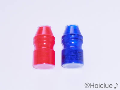 乳酸菌飲料の容器に色をつけた写真