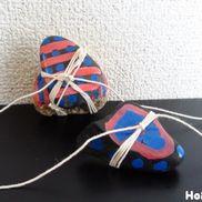 カラフル石のぶんぶんごま〜自然で楽しむ手作りおもちゃ〜