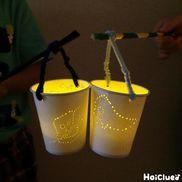 おばけランタン〜浮かび上がる光がおもしろい紙コップ製作〜