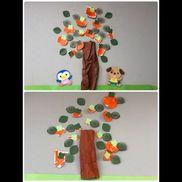 11月壁面 柿の木