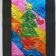 キラキラステンドグラス〜身近な材料で作るクリスマス飾り〜