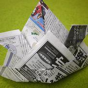 かぶれる簡単「かぶと」の折り方・作り方〜新聞紙やチラシ楽しめるこどもの日にちなんだ製作遊び〜