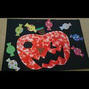 10月の製作(0、1歳児)ハロウィーン