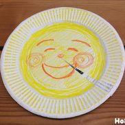 こんばんは、おつきさま〜くるっと回して紙皿おつきさま〜