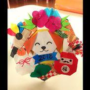 1月の誕生会の冠のパーツを折り紙で作りました*ˊᵕˋ*