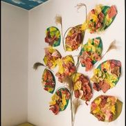 『秋の壁面作成』