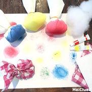 【お絵描き技法】タンポ〜乳児さんから楽しめるお絵描き遊び〜