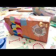 【ティッシュケースこいのぼり】材料・ティッシュの山・色画用紙・紙コップ
