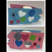 【こいのぼり制作】3歳児立体こいのぼり画用紙シールクレヨン