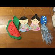 3歳児 七夕飾り折り紙画用紙スズランテープクラフトパンチ