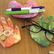手のひら型メガネ置き〜プレゼントにももってこいの成長伝わる製作遊び〜