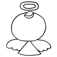 【ぬりえ】天使〜アレンジバージョン〜