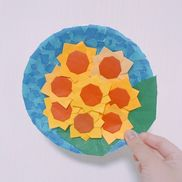 紙皿を使ってオリジナルのお花