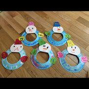 【ゆきだるま】・4歳児・冬・紙皿、色画用紙