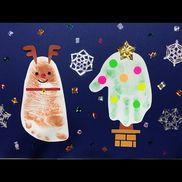 【12月】・スタンプ台・画用紙・キラキラ折り紙・カラフルシール